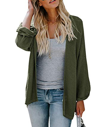 long womens cardigans ofenbuy womens cardigans casual lightweight open front long sleeve loose  knit sweaters HEBAIPM