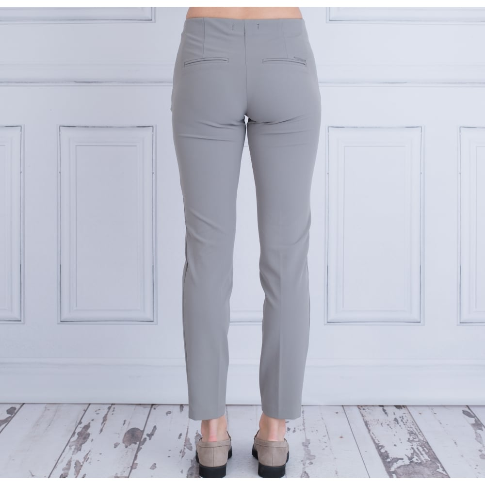 MAC TROUSERS anna zip new narrow leg bistretch trouser in dark taupe CPAQJOQ