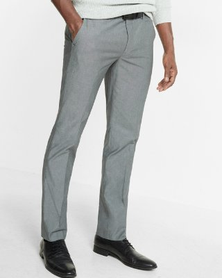 Men's Pants extra slim gray chambray dress pant | express RJUUUEY
