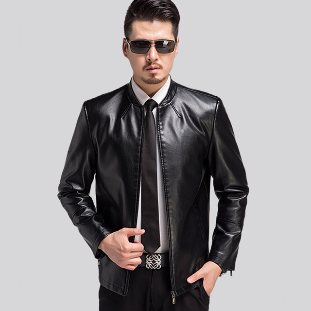 Mens Biker Jackets top quality mens leather jackets and coats 2017 spring autumn brand  motorcycle leather jacket men GLOUUOI