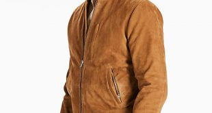 Mens Bomber Jackets suede bomber jacket, brown suede bomber jacket, ... GSEMQFH