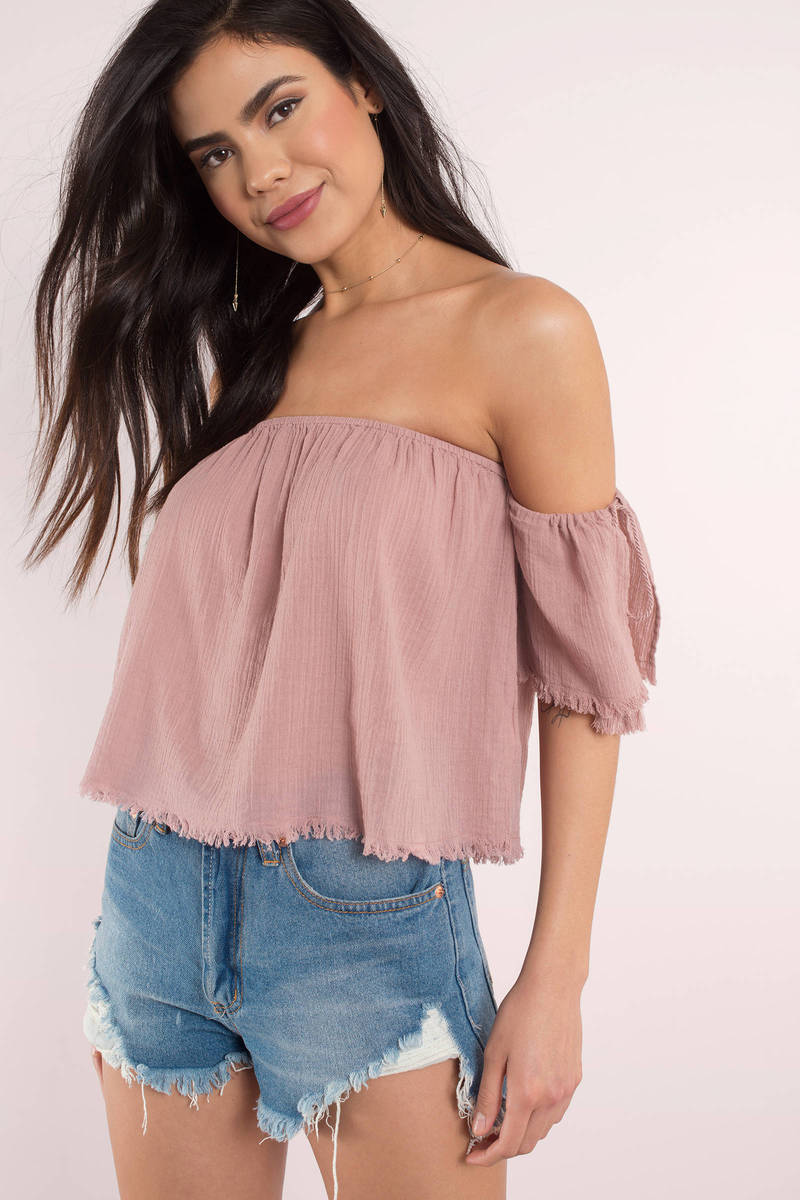 Off Shoulder Tops sadie terracotta off shoulder top TLRUXML