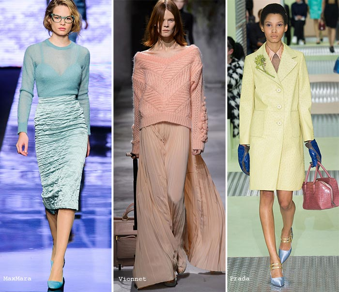Pastel colors fashion fall 2015 trend of pastel colors: texture DCKHMWY