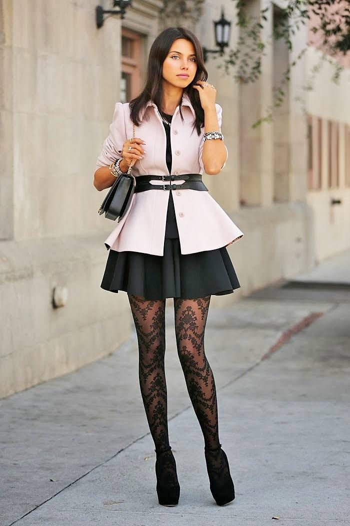 patterned tights outfit ted baker trending tights JXKPGZJ