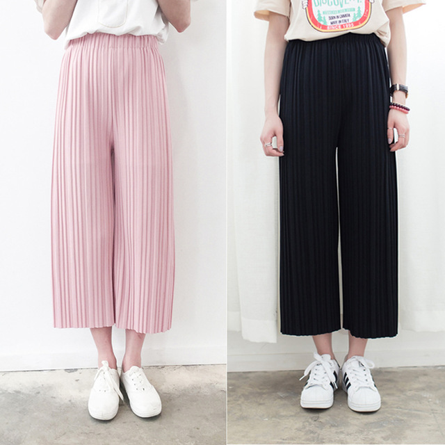 Pleated Pants Women
