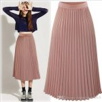 Pleated skirt for women strict, accurate, simple and yet feminine