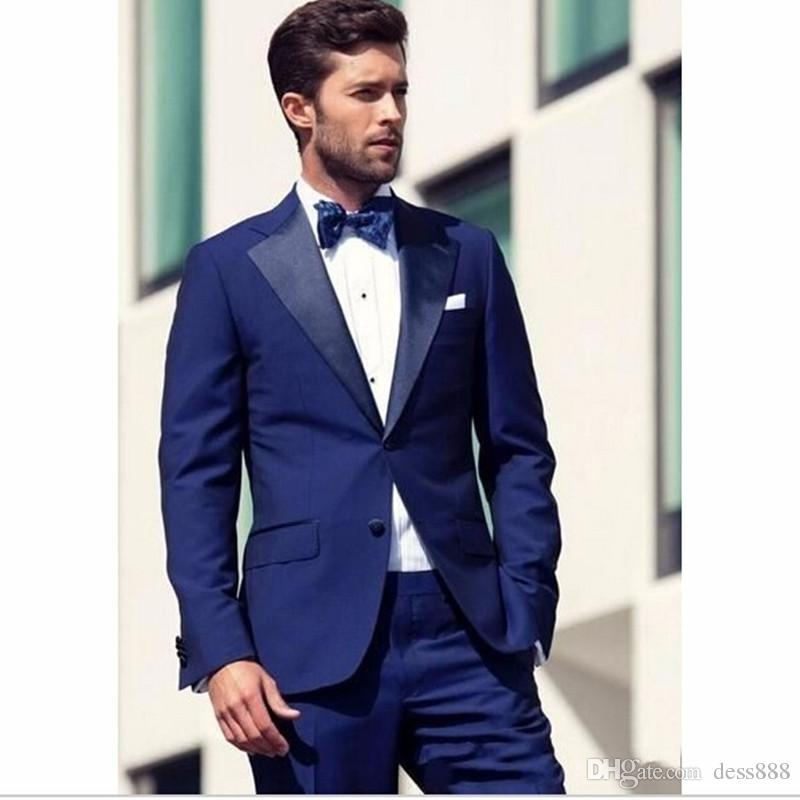 Prom Suits best royal blue mens dinner party prom suits groom tuxedos tuxedo jacket  men QPFVTBH