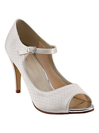 Rainbow Bridal Shoes rainbow club peggy peep toe court shoes, ivory PVTUSWJ