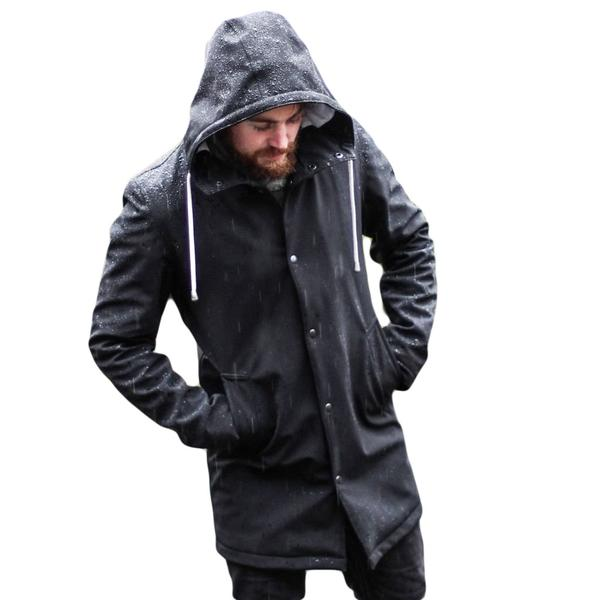 Raincoats black | the sophisticated - emberu0026earth rainwear, slim fit raincoat BPVYYLB