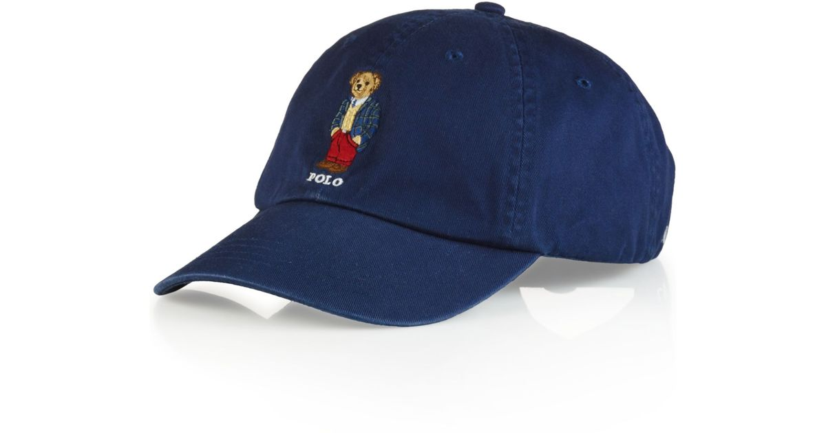 Ralph Lauren Caps lyst - polo ralph lauren polo bear chino baseball cap - preppy polo bear GDWOKGW