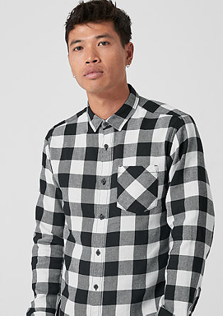s.Oliver Shirts extra slim: check cotton shirt from s.oliver JQUYRWS