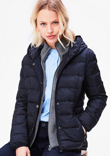 s.Oliver Women's Jackets s.oliver women lightweight down jacket with sweat insert navy q81d9677 DQNEZBT