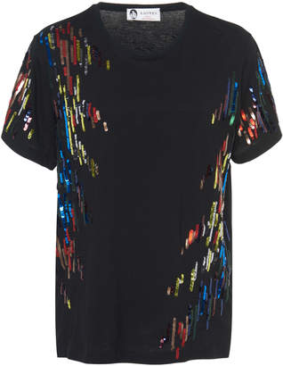 Sequin Shirts ... lanvin embroidered sequin t-shirt WYAZUCU
