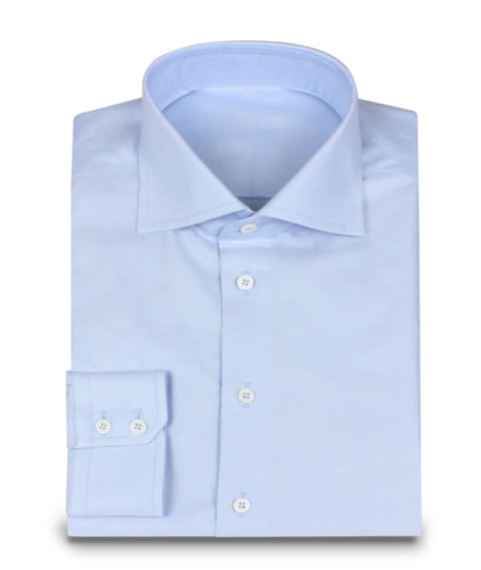 Shark Collar shark collar shirt in oxford light blue OAYNZVQ