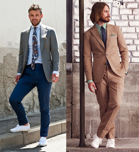 sneakers with suit how to suit sneakers AXSXTKD