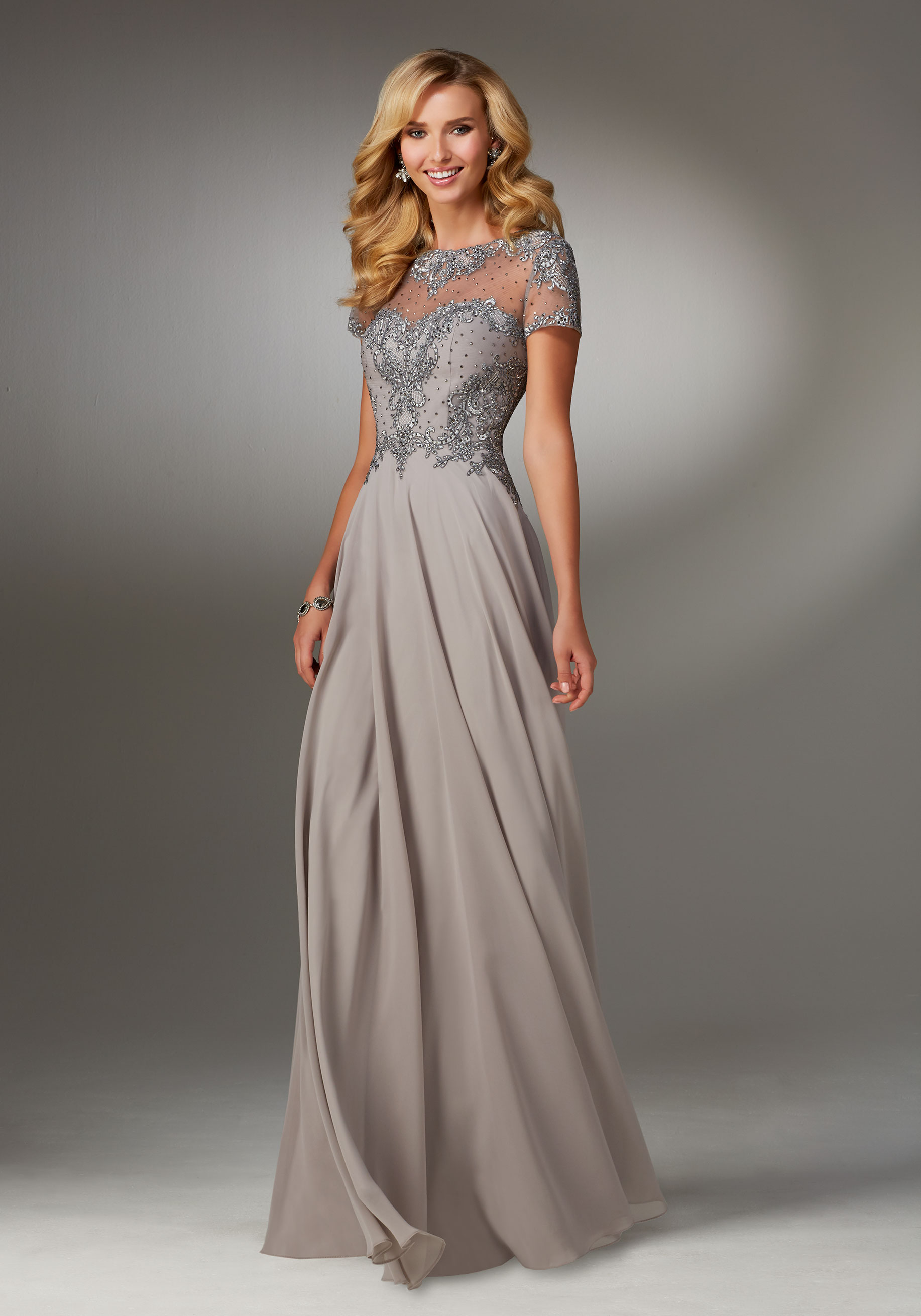 Special Occasion Dresses chiffon special occasion dress with beaded embroidery on bodice XUOEYQW