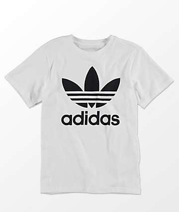 T-shirts for boys adidas boys trefoil white t-shirt DDUAHIZ
