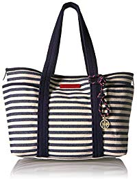 TOMMY HILFIGER BAGS canvas tote bag for women dariana EGOQKYE
