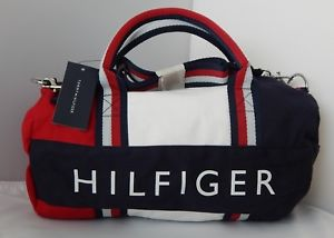 TOMMY HILFIGER BAGS image is loading new-tommy-hilfiger-kids-mini-gym-signature-duffle- HBGOQKD