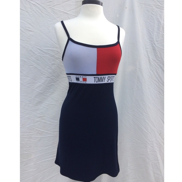 TOMMY HILFIGER DRESSES 90s tommy hilfiger sports babydoll dress UAGFQUK