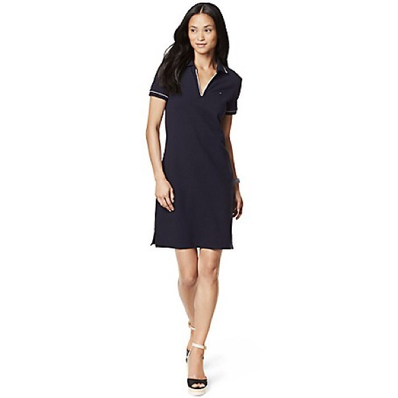 TOMMY HILFIGER DRESSES tommy hilfiger blue collared dress UFZDBYC