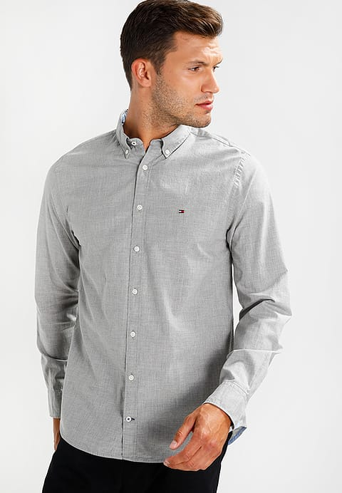 Tommy Hilfiger New York Fit Shirts to122d0cr-c11 tommy hilfiger new york fit - shirt - grey outer fabric  material: CAKXVMM