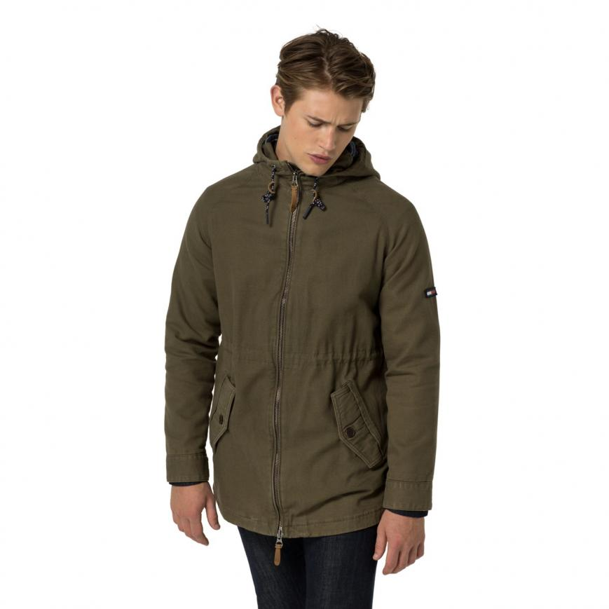 TOMMY HILFIGER PARKAS outerwear night - tommy hilfiger washed parka mens olive night WQGVHMY