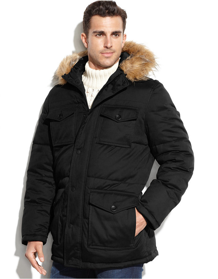 TOMMY HILFIGER PARKAS ... tommy hilfiger 4 pocket snorkle parka with faux fur hood ... AOOKMRT