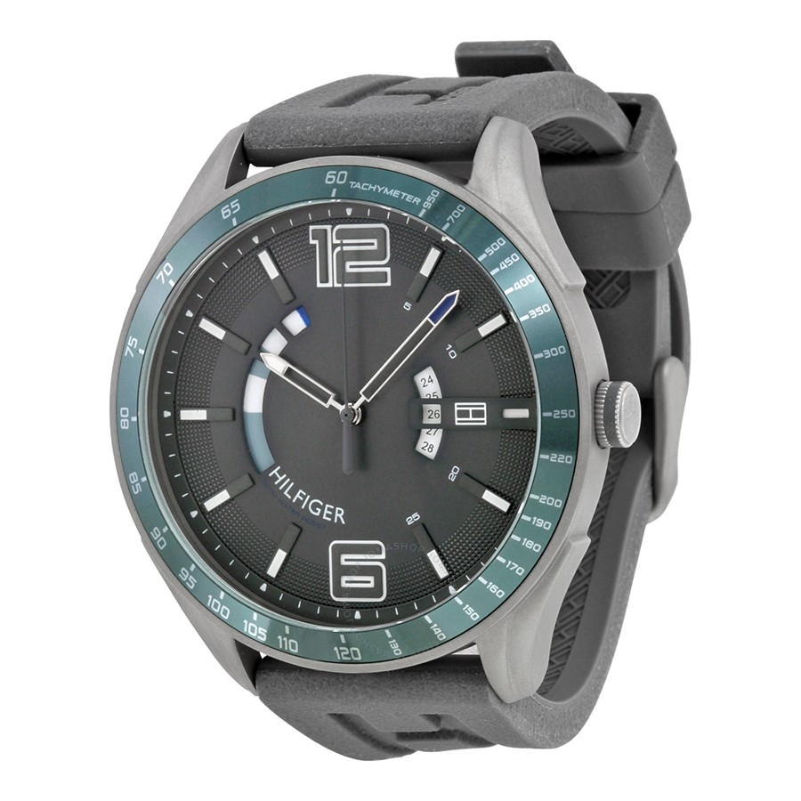 Tommy Hilfiger Sport Watches tommy hilfiger cooper grey dial black silicone menu0027s sports watch 1790799  ... KDYMEPV