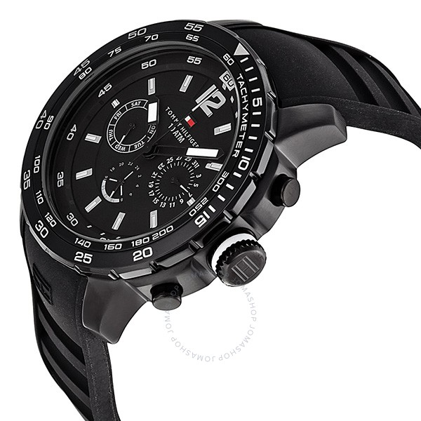 Tommy Hilfiger Sport Watches ... tommy hilfiger marin multi-function black dial black rubber menu0027s sport  watch 1790889 ... DESCWXK