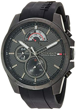 Tommy Hilfiger Sport Watches tommy hilfiger menu0027s u0027cool sportu0027 quartz resin and silicone casual watch,  color black FOWEOBE