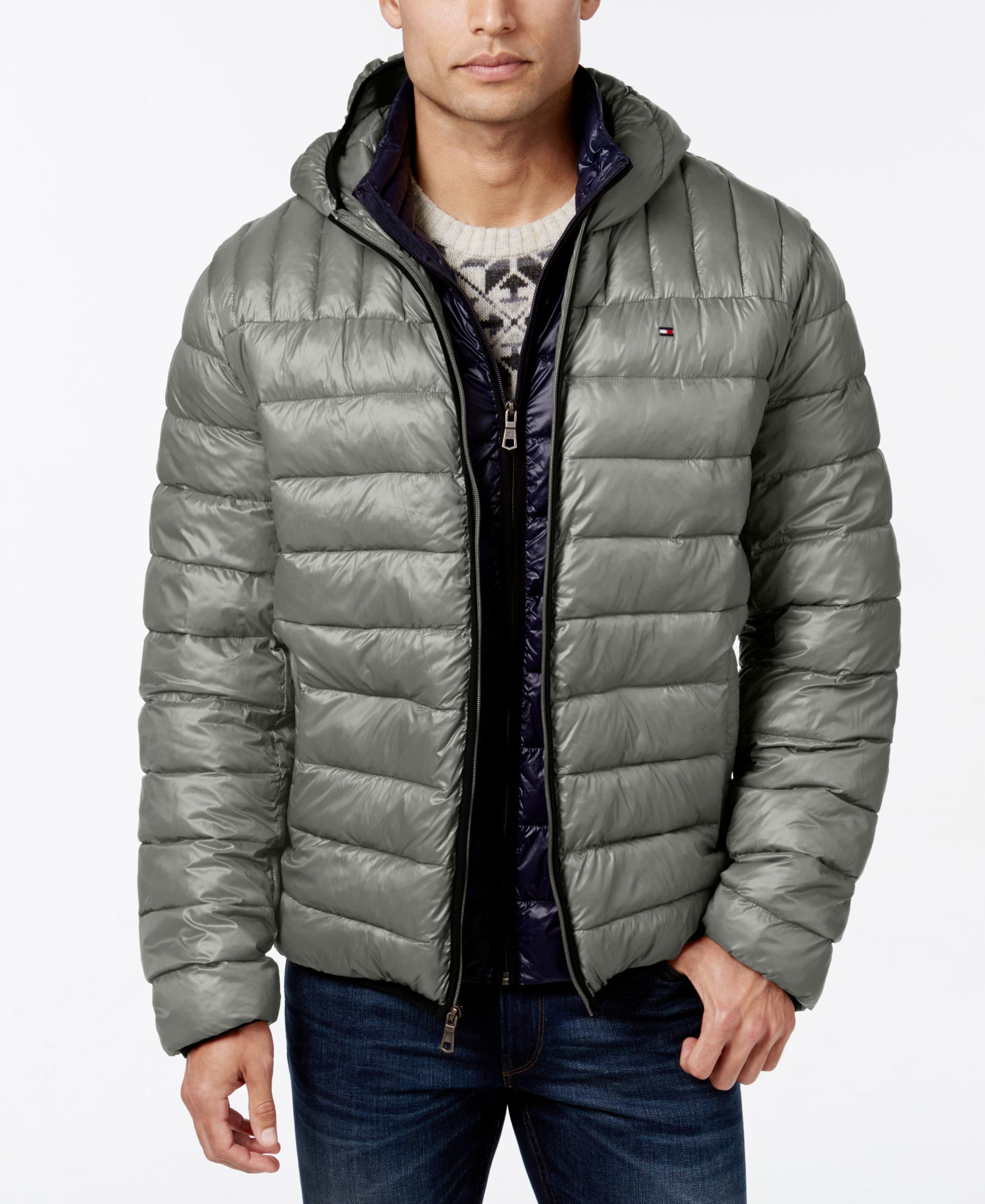 TOMMY HILFIGER TRANSITIONAL JACKETS tommy hilfiger hooded packable jacket YYDMQQS