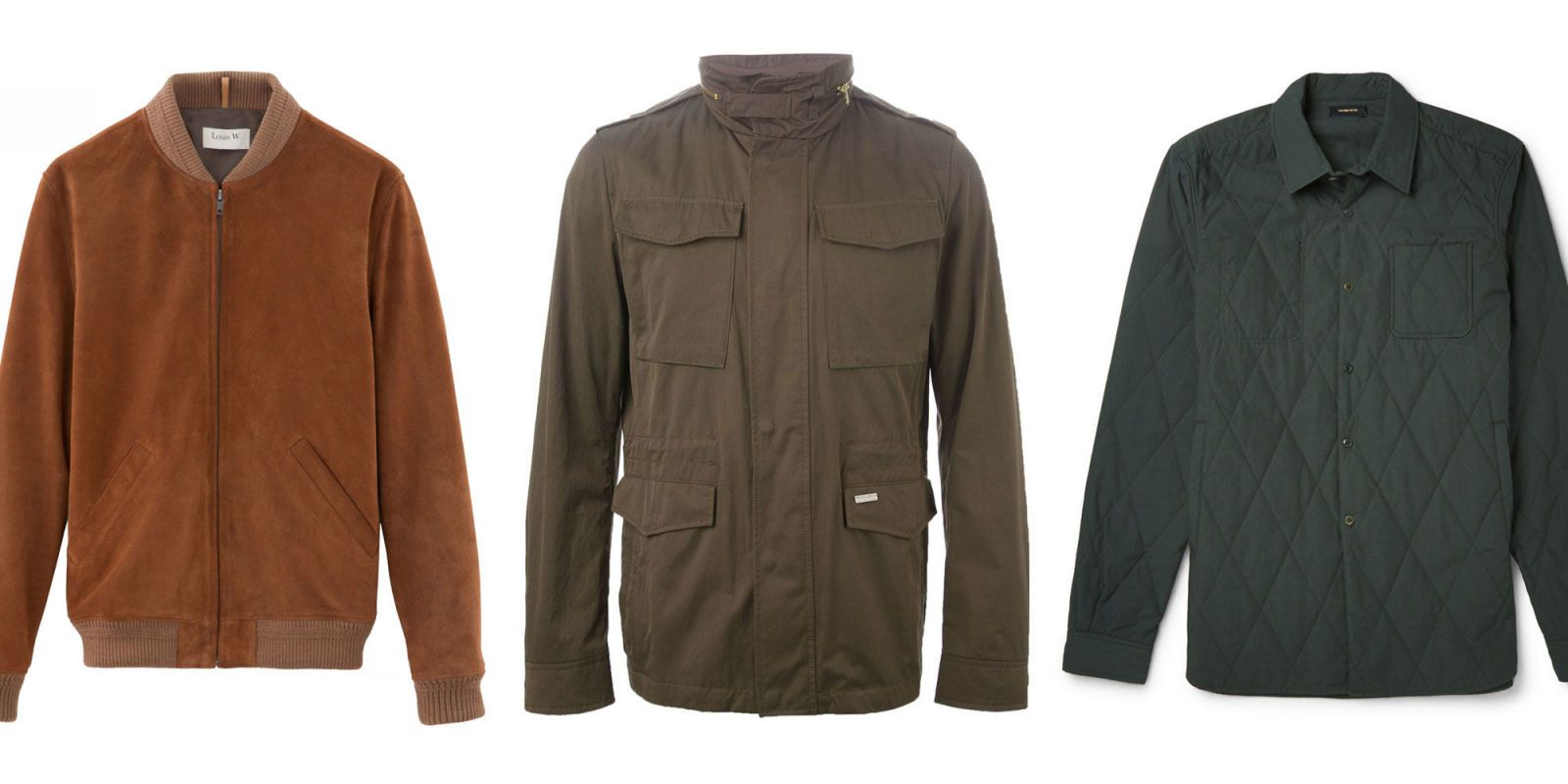 Transition jackets from bombers to field coats, a roundup of the best outerwear for the season  ahead. VBIXPSM