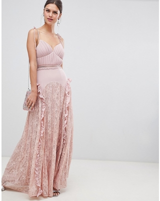 True Decadence true decadence cami strap maxi dress with lace insert skirt - pink JSCHZTV
