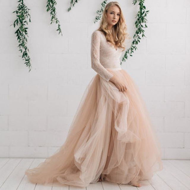 Tulle Skirts new fashion bridal tulle skirt champagne nude ivory wedding skirts  personalized tiered layers long maxi QETTBRS