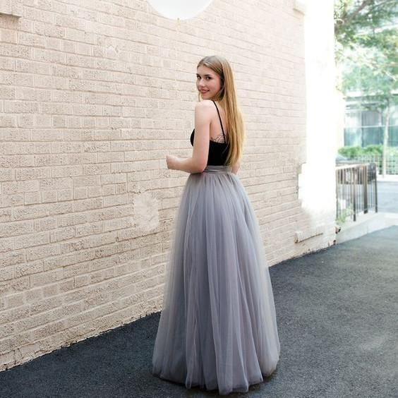 Tulle Skirts rtw kimmy long tulle skirt OVOLSSF