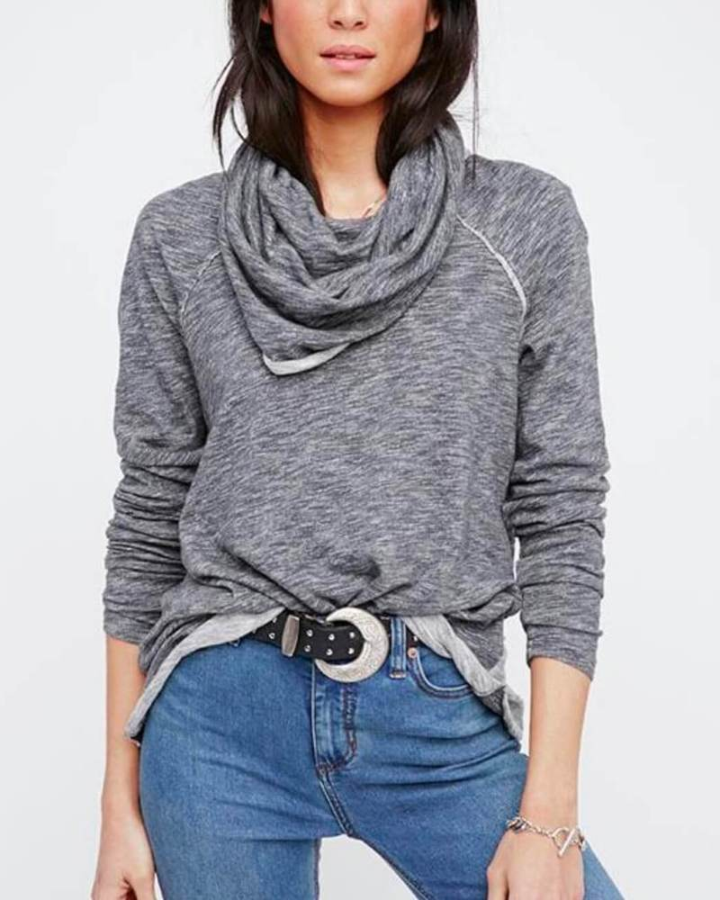 Create elegant styles with a turtleneck pullover