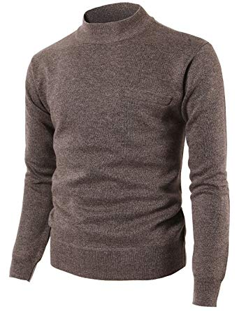 Turtleneck Pullover h2h mens casual slim fit half turtleneck pullover knitted sweaters brown us  s/asia m RPLFSNV