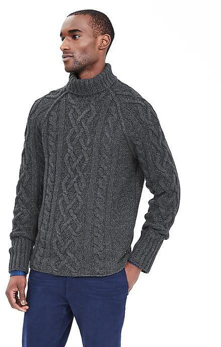 Turtleneck Pullover ... heritage cable knit turtleneck pullover ... OLBFDAY