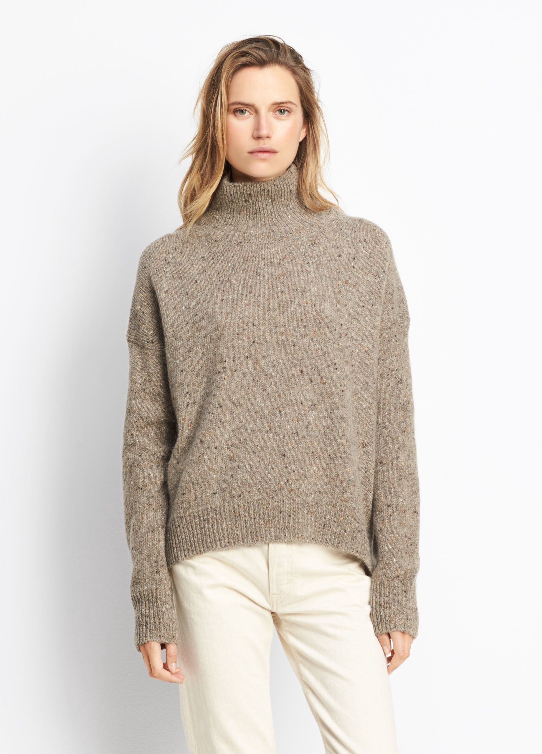 Turtleneck Pullover vince cashmere turtleneck pullover - heather ash. #vince #cloth # NVMKHRK