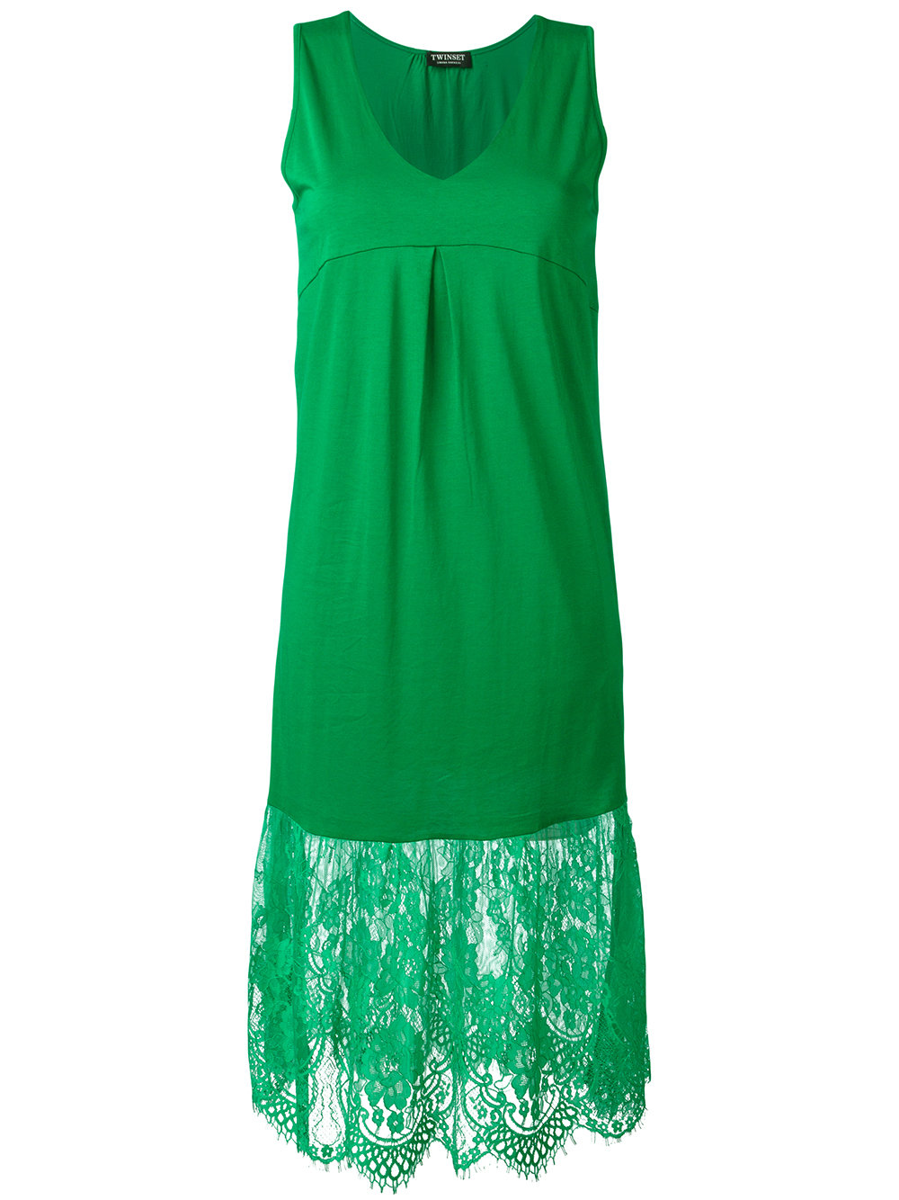 Twin set in the outlet twin-set lace detailing dress 822 grass green women clothing cocktail u0026  party dresses, MTJBLZN