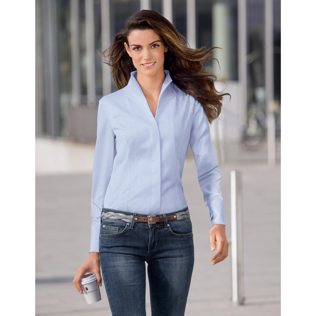 Van Laack blouses light blue IHQFFDA