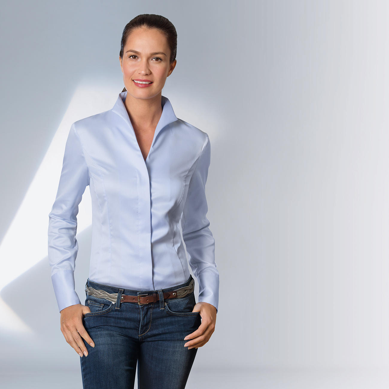 Van Laack blouses light blue KLRAZQF
