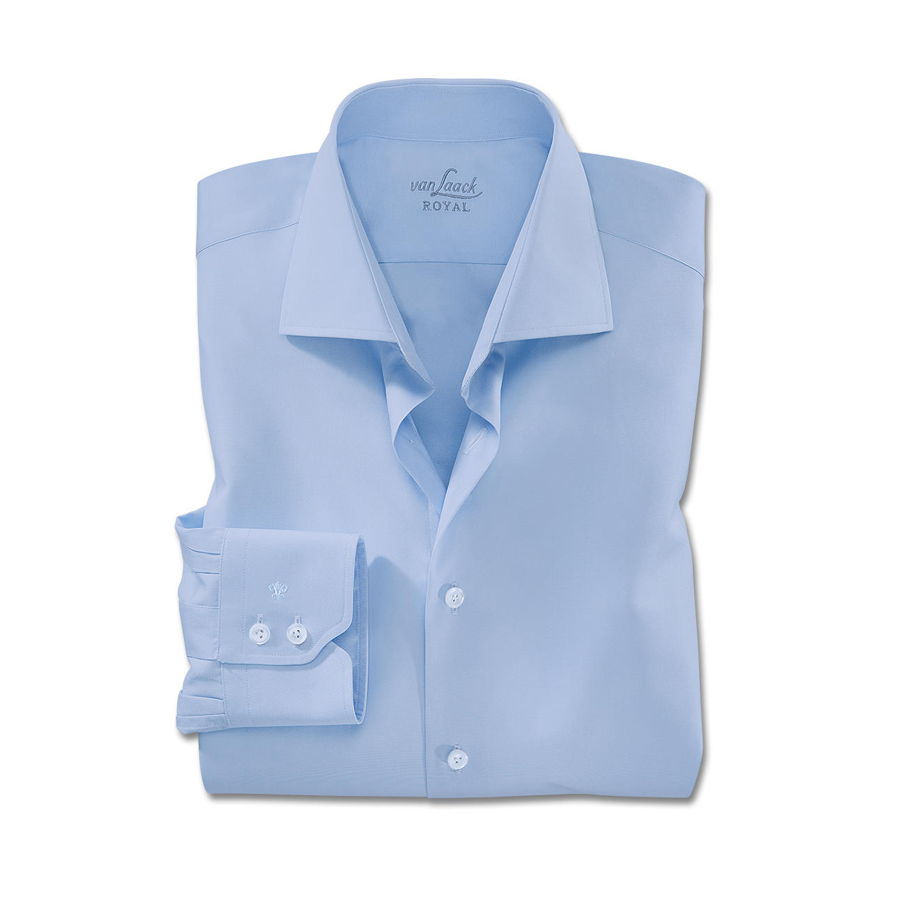 Van Laack Shirts single button cuffs, light blue OBZVDGC