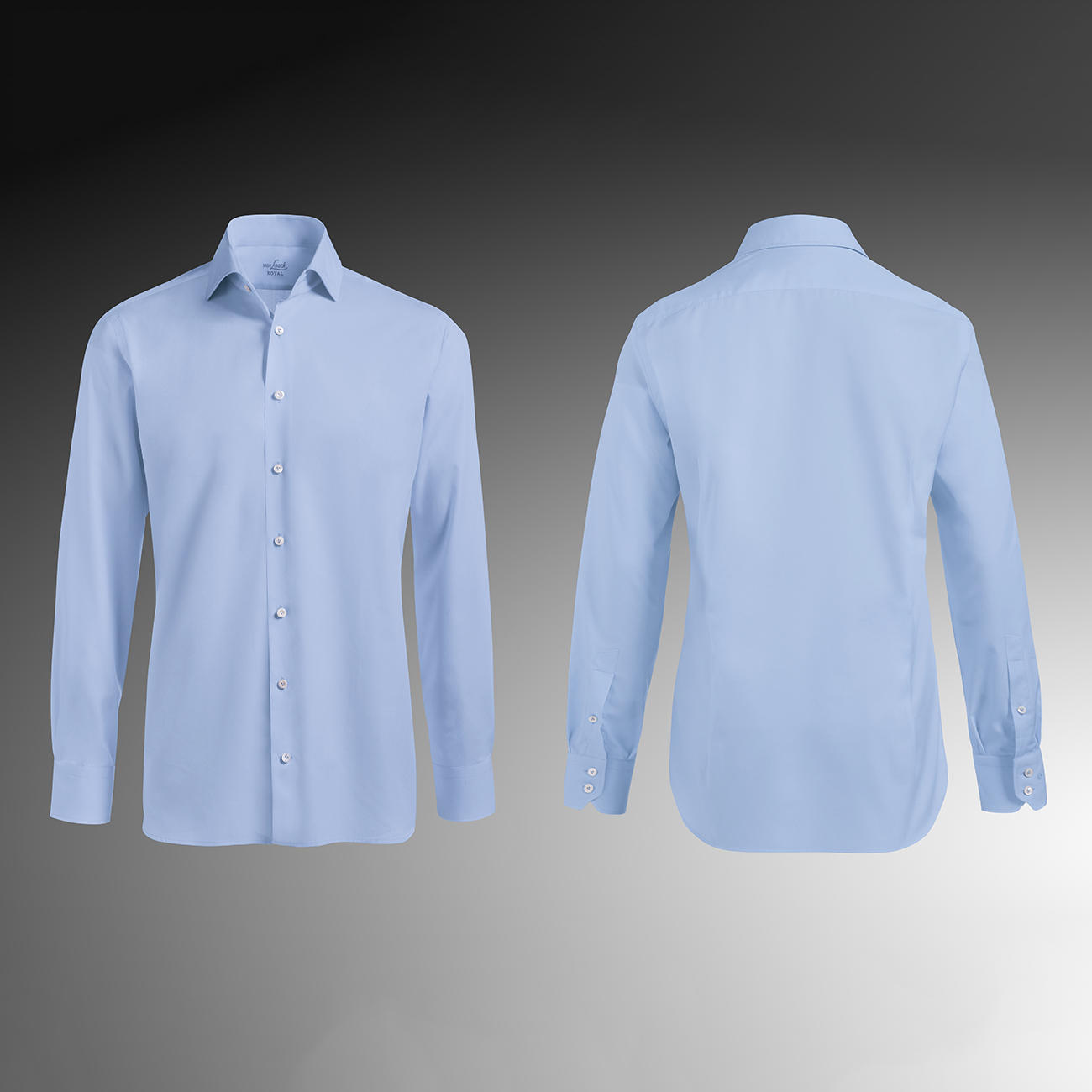 Van Laack Shirts tailor fit, single button cuffs, light blue RJGWIXA
