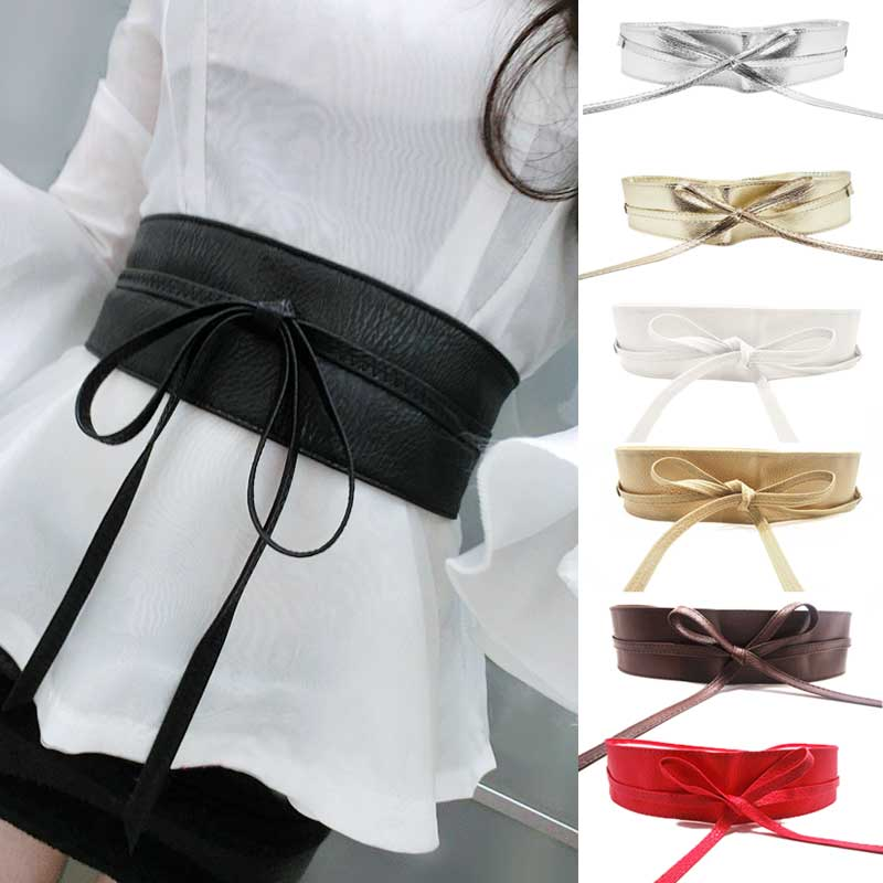 Waist Belts for women aliexpress.com : buy new fashion women belt soft leather wide self tie wrap YZCAFXG
