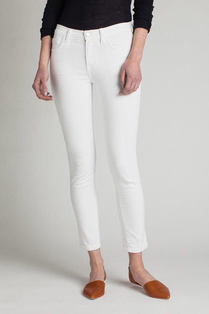 white jeans industry standard odette midrise skinny UTCHBZG