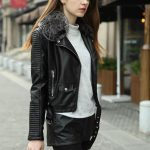 Winter Leather Jacket Women