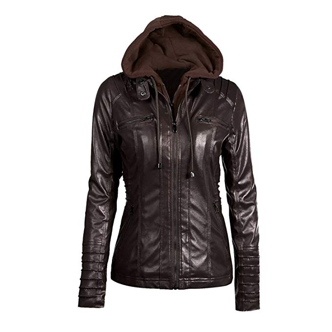 Winter Leather Jacket Women auuocc 5xl 6xl 7xl plus size womens clothing new winter leather hooded  jacket BHYUPQS