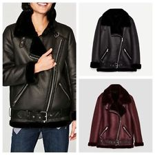Winter Leather Jacket Women womens suede coat aviator leather jacket winter coat fur liner jacket coat YEOUKJE